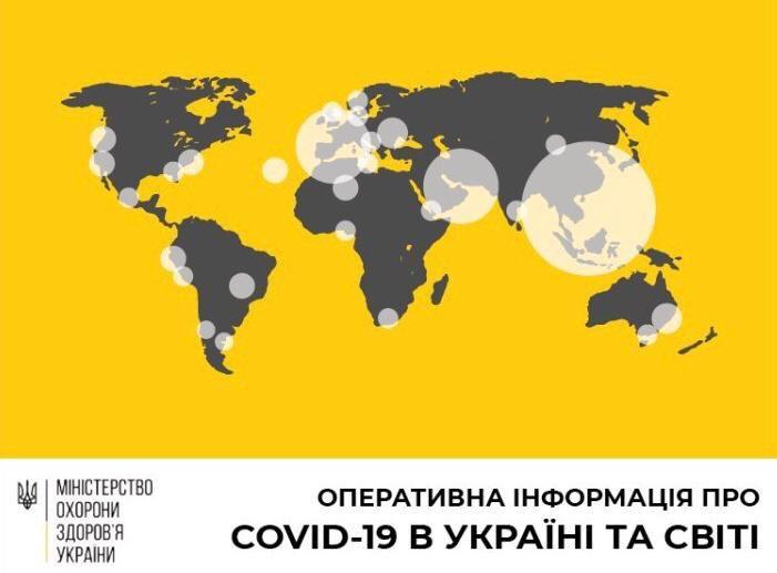 В Україні зафіксовано 113 випадків коронавірусної хвороби COVID-19